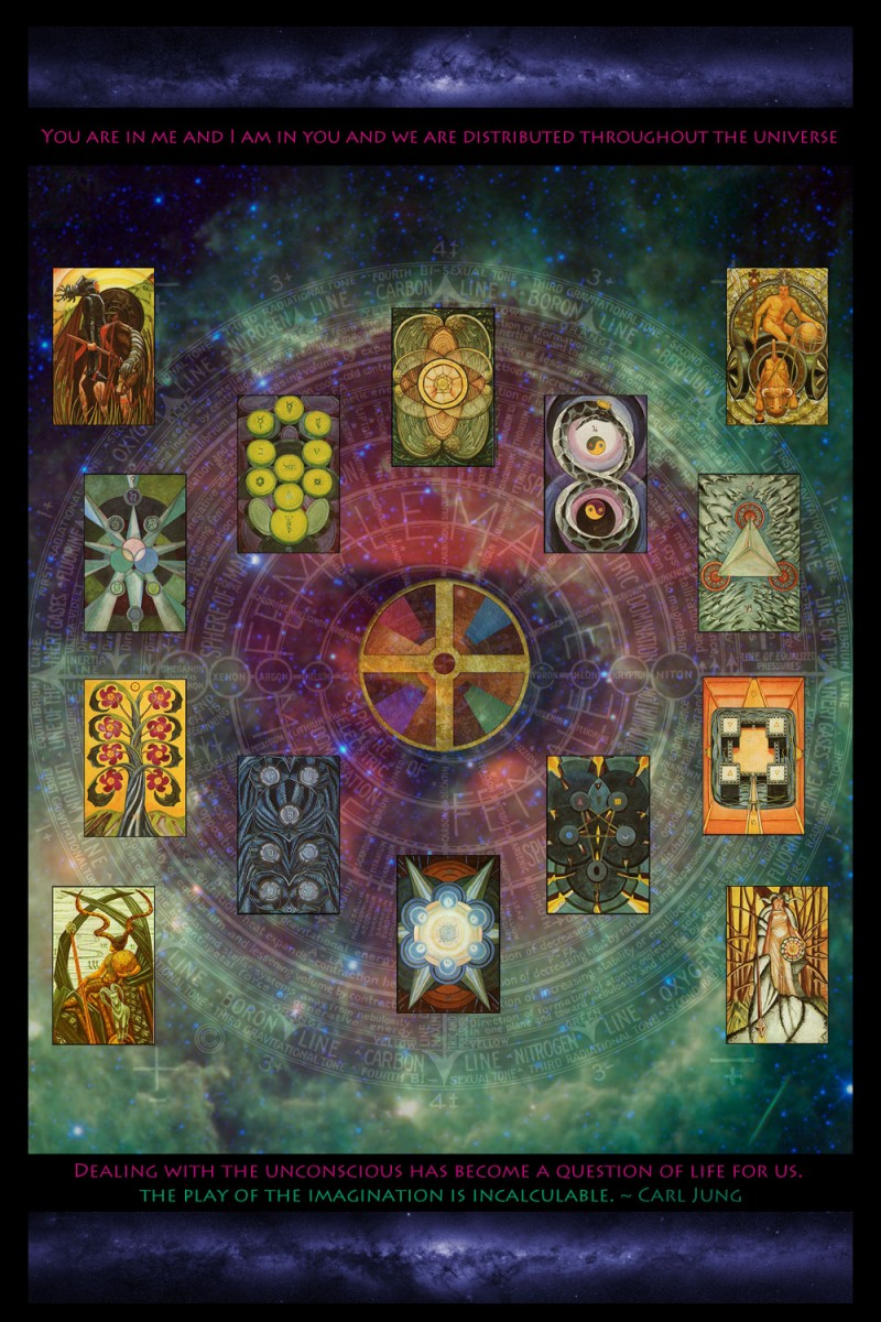 Aeons of the Universe: Tarot Disks: Thoth - Archetype Meditation Series. Note that Thoth Tarot is Copyright to the O.T.O.