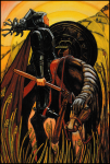 Thoth Tarot Knight of Disks