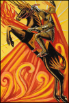 Thoth Tarot Knight of Wands